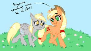 Applejack makes everypony feel better by Zaphy1415926