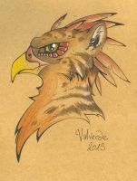 Draft for Gryphon Mask by luthien368