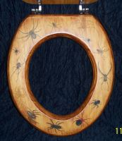 Commission spider toilet seat by WOODEWYTCH
