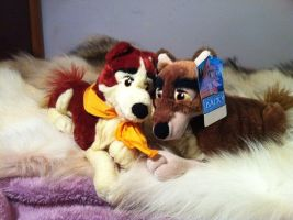 Balto and Jenna plush 2 by pookyhorse