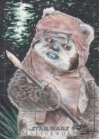 Star Wars Masterwork - Wicket Sketch Art Card by DenaeFrazierStudios