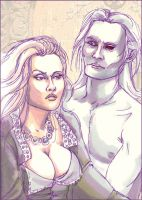 Shiera and Bloodraven by kethryn