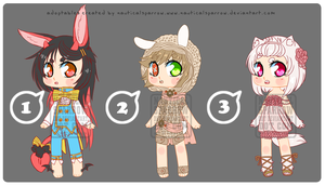 Adoptables 12 - on sale for $7 or trade by NauticalSparrow