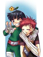 Naruto: Lee and Gaara by MooguriKlaine