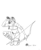 Caecilia - Line Art - Request by Conwant