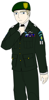 Misha in a service uniform XD by jmig3