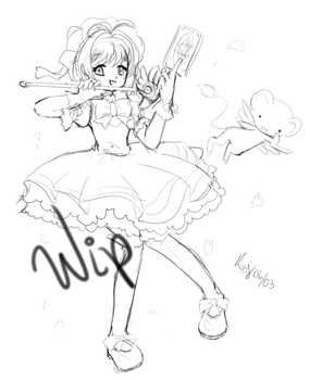 Art Sakura Card Captors WIP by iKiy