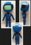 Con Plush 7 - Blue Halo Spartan by mihijime