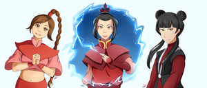 Fire Nation Trio by Goodwil