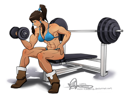 Korra In Training by TheK40