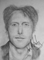 Mads Mikkelsen Portrait (signed) by harmoniace