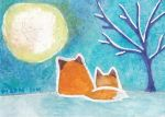 ACEO 028 - Blue Moon by PizzaFisch