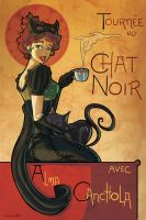 Tribute to Chat Noir Poster by Canchola
