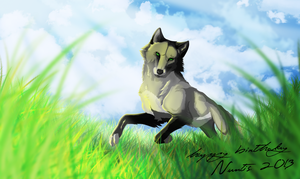 Commission in Gimp - happy birthday Nuntis :3 2013 by AvantisArt