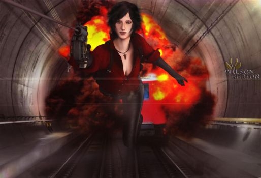 Ada Wong in another mission, ART: Wilson Burton by wilsonBurton20