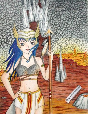 Astral Romance 2 Tibia Character (colored version) by AmyNovacaine