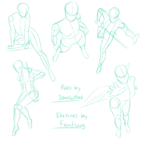 Anatomy Sketches (for AB) by FenHung