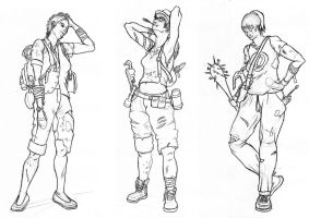 Trio Character Designs by toxkillfraex