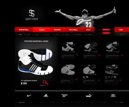 Sport Store by JK89 by templateartists