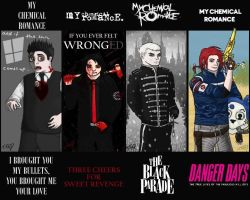 Gerard Way Bookmarks FULL SET by Keyhole-Cat