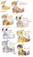 :PKMN: Scraggy variations by Clytemnon