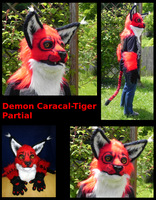 SOLD Demon Caracal-Tiger Partial by Chaosthief