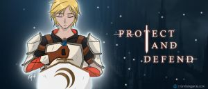 PROTECT AND DEFEND   JNPR - Jaune Arc by patgarci