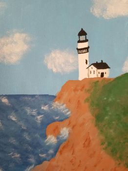 Lighthouse on a Cliff by Gilmel