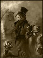 Circus 3 sepia version by distortioncircus