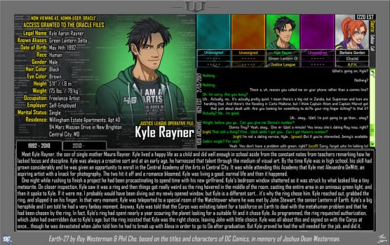[Earth-27: Oracle Files] Kyle Rayner (Pg. 1/2) by Roysovitch