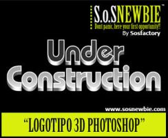 Tutorial Photoshop: logotipo3d by SOSFactory