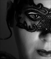 black lace mask by Strange-Illusions