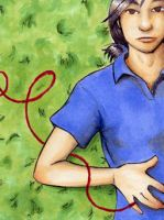 ACEO Red String 1 of 2 by StephanieReeves