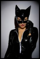 Catwoman's portrait by OneMorePike
