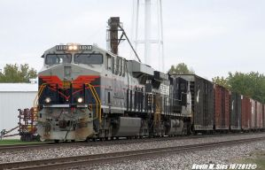 NS CoG heritage 8101 leads NS 145 Dawson Illinois by EternalFlame1891
