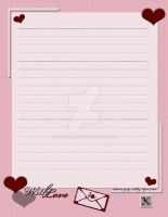 With Love Stationary by Erialosa