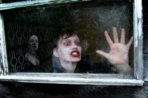 Ghoul trapped in Window by Revelio
