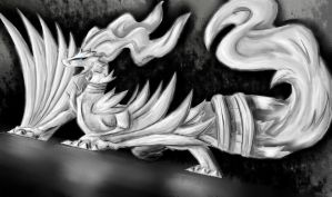 Speed Paint- Reshiram by DarkDragon1010