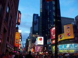 Times Square at Night! by StyxxsOmega