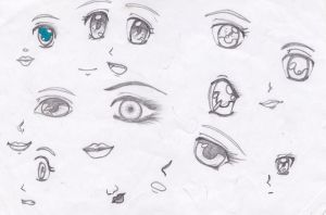 anime eyes by B-Injection