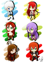Chibis 1-6 by Zakiu-Cross
