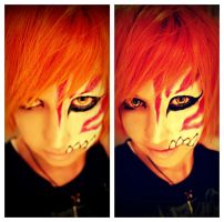 Ichigo - Hollowmask Make Up by Kubzification