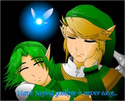 Link and Saria 'Goodbye' by McHuggies