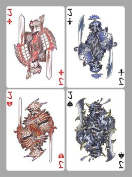 Playing cards: jacks by Wen-M