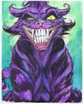 Dark Chesire Cat watercolors by Danielleister