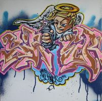 Graffiti Angel by ecce-one