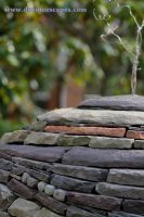 Visionary Eco Art,  Dry Stone Sphere close-up by Devine-Escapes