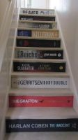 Hand-painted book spine stair risers by dtw42