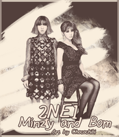 2NE1-Minzy and Park Bom ^^ by Steffito