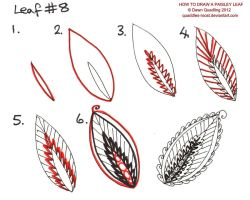 How to draw Paisley Leaf 08 by Quaddles-Roost